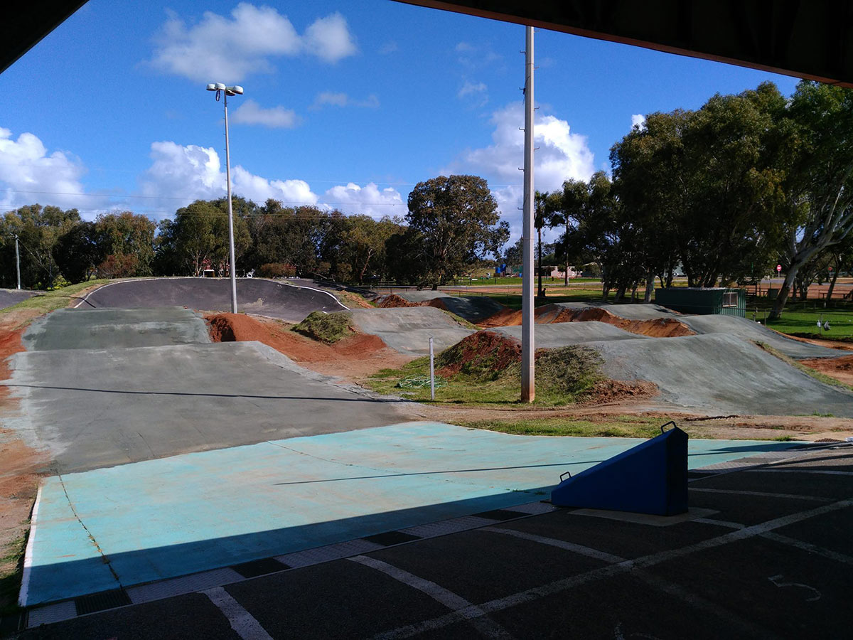 BMX jumps coated with DirtGlue industrial soil stabiliser
