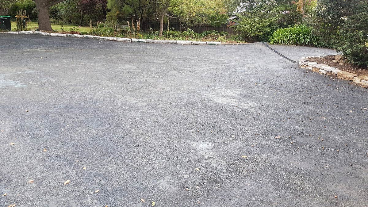 DirtGlue polymer is an alternative to concrete driveways