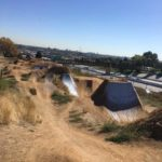 DirtGlue industrial hardens pump track surface