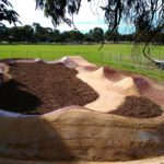 DirGlue used to stabilise pump track surface