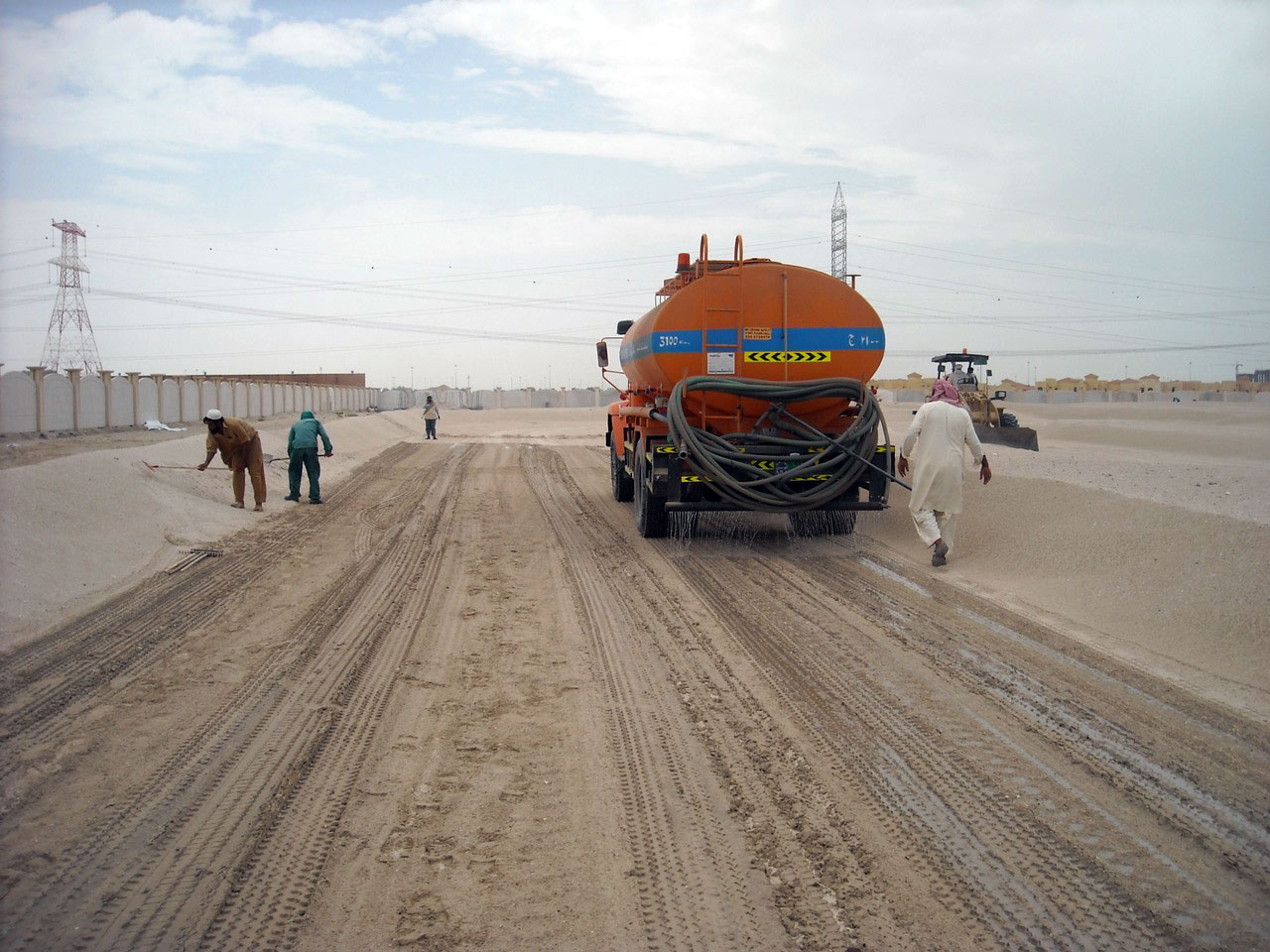 dustless dust control suppression road building