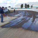 Dustless Spray stream dust control technology