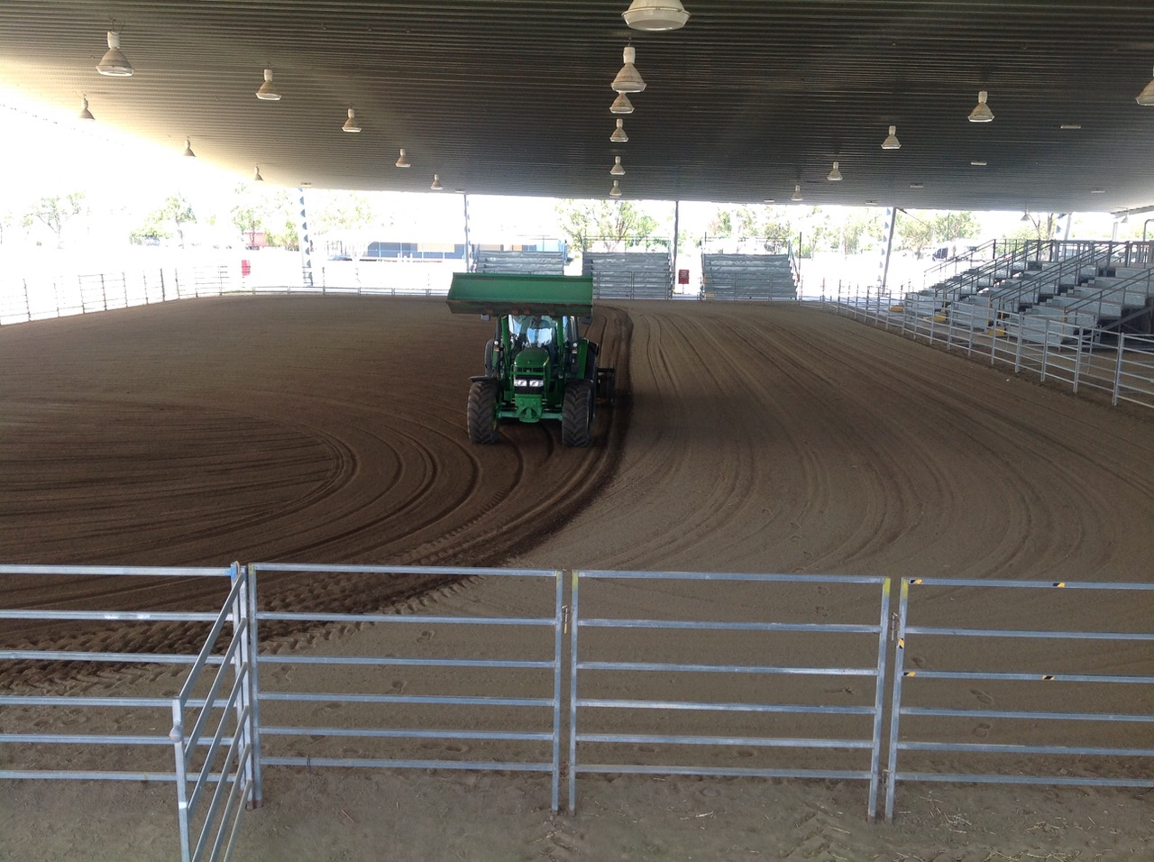 Dustless equestrian arena dust control for shows and events