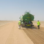 Dustless road maintenance and building dust control