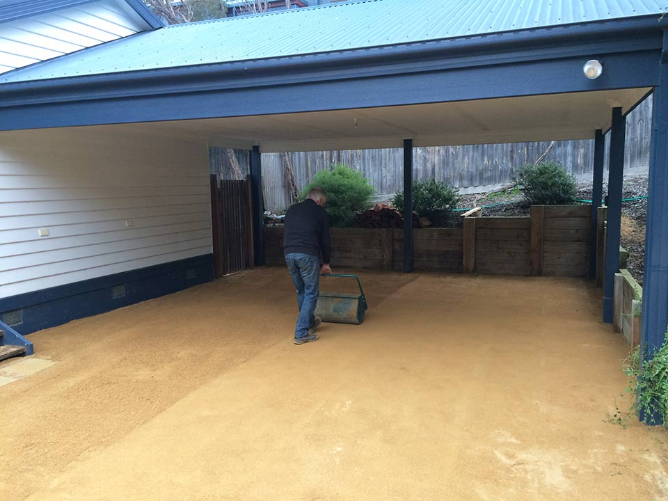 DirtGlue industrial environmentally friendly durable low maintenance surface for carports