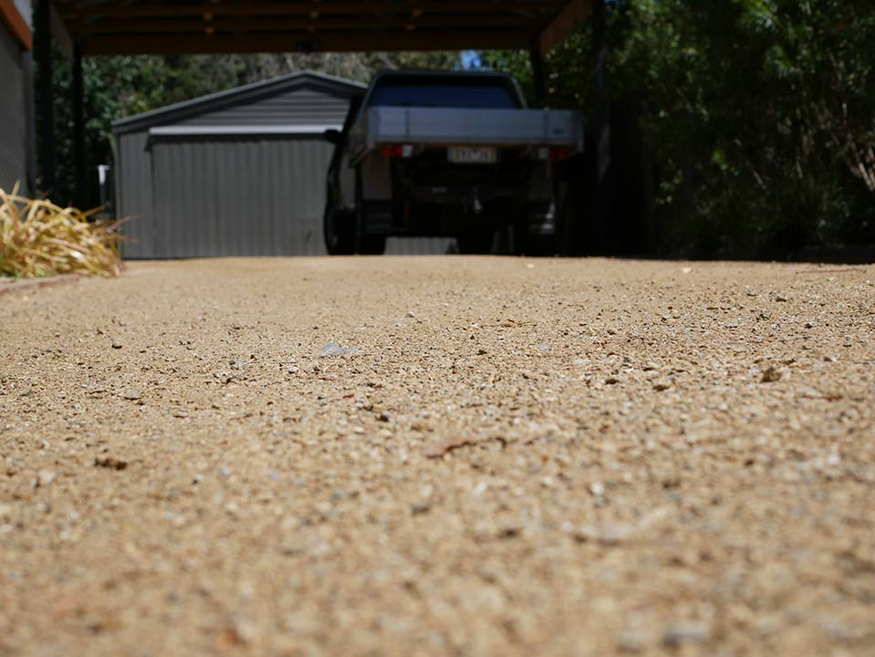 DirtGlue industrial environmentally friendly solution for paths and driveways
