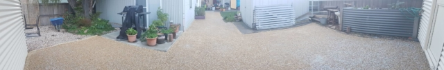 DirtGlue industrial comined with aggregate eco-friendly solution for domestic landscaping