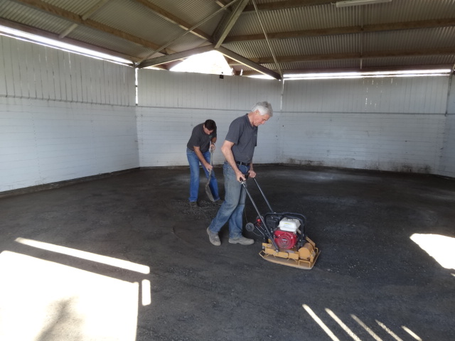 DirtGlue industrial can be applied to all types of aggregates for long lasting surface