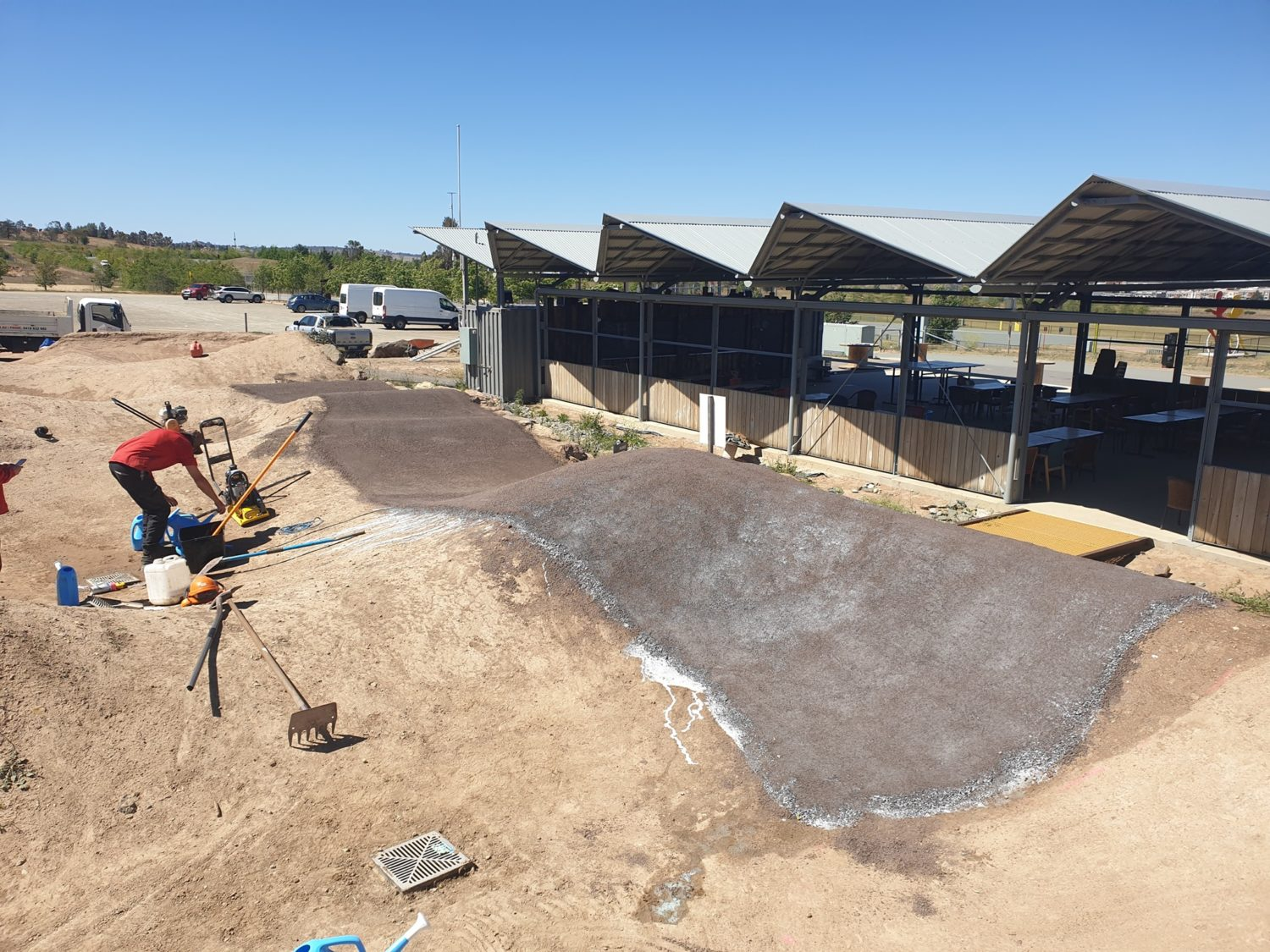 Makin Trax, Three Chillies Design, DirtGlue Industrial & PolyPave Pump Track in Mount Stromlo Canberra